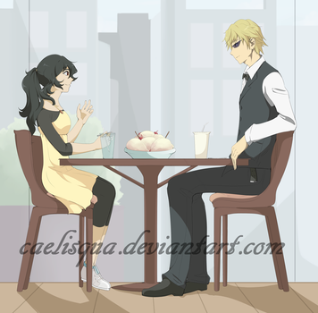 AT - Arisu and Shizuo by CloudyCaelum