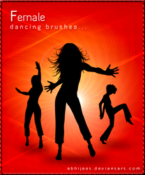 -_-_Female Dancing Brushes_-_- by abhijeet