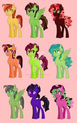 Mlp Stallion Adoptables (40 points each, OPEN) by SamtheSkeleton01