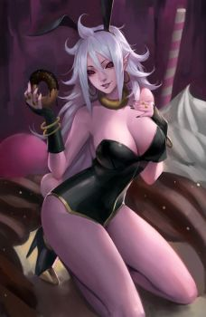 DBFZ - Android 21 Bunny girl ver. by phamoz