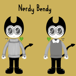 Nerdy Bendy Reference by HalloweenMew