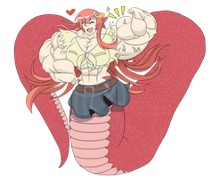 Muscle Miia by TheCottonCandyQueen