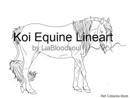Koi Equine Lineart by LiaLithiumTM