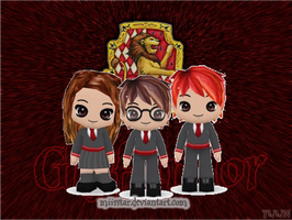 Harry, Ron and Hermione by Miisstar