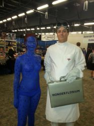 Mystique and Doctor Horrible at SCEE 2014 by xayoz77