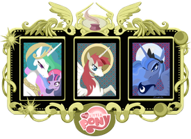 Iconic Ponies   commision by Hinoraito by alexthezebra