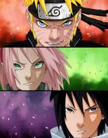 Naruto 632-Team 7 by Salty-art
