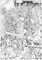 The Coming of the Towers page 21 inks by JoeTeanby