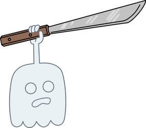 High five ghost with a Machete by kol98
