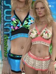 SWIM Couture for dForce SunFlirt Set by cosmosue
