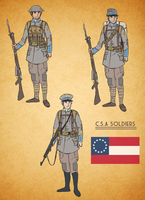 Alternate History Confederate Soldier by goeliath