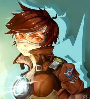Tracer - Overwatch Fanart by HannahVictoriaBibby