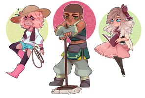 EE | Chibi Children by aHoneyBadger