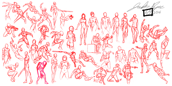Figure Sheet by justinpyne