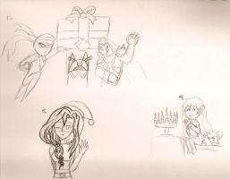 Late Christmas Doodle Request: Part 3 by NeonNeoz