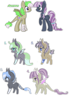 Amazona and Moon Beam foals {closed} by IvonChee