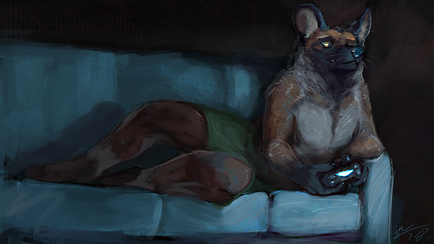 Late Night Gaming by BlindCoyote