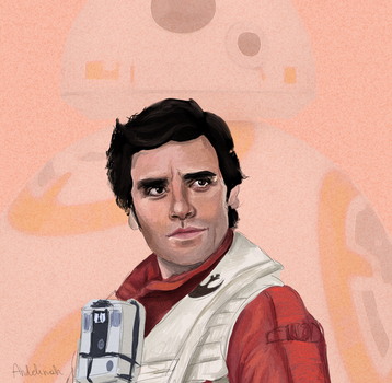 Poe Dameron and BB-8 by farianna