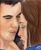 The kiss- Bella and Jacob by Allie06