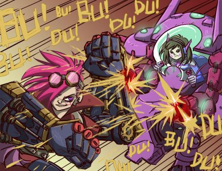 VI VS D.VA by KamlotVIII