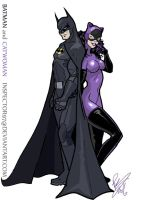Batman and Catwoman by Inspector97