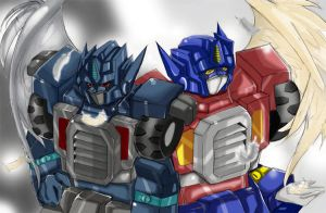 Nemesis and Optimus by BumblebeeSam