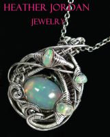 Ethiopian Welo Opal Necklace in Sterling Silver by HeatherJordanJewelry
