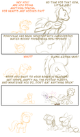 Hearts and Whooves Sketch Comic by feather-chan