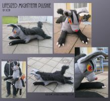 Lifesized Mightyena Plushie