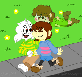 Undertale - Children of Dreemurs by twinscover