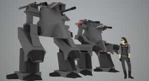 Self Propelled Mobile Riot Control Platform by Gwentari