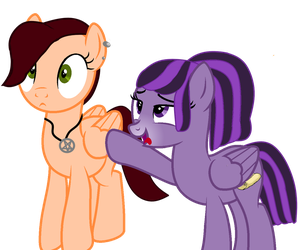 Prosey Loves Peaches (no background) by ForTheLuvOfApplejack