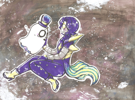 Outertale - Mettaton and Napstablook by akkame