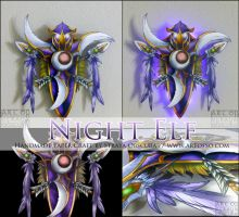 Warcraft Race Crest: Night Elf by StrayaObscura