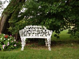 Medina Chapel Lawn Bench by FantasyStock