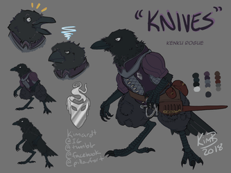 DnD Character Reference - Knives by phantos