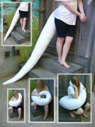 6 foot dragon tail by LilleahWest