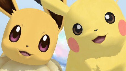 Pikachu and Eevee (Pokemon Lets Go) by GuilTronPrime
