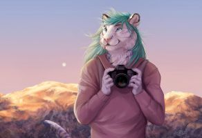 The Photographer - WIP2 by GoldenDruid