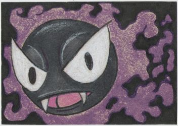 gastly 092 ATC IRL gift by dumpsterfiregypsy
