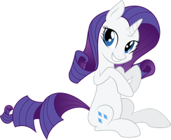 Rarity is cute by Hourglass-Vectors