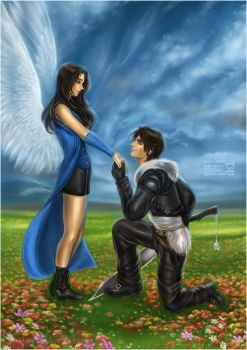 Final Fantasy VIII: Squall and Rinoa by daekazu