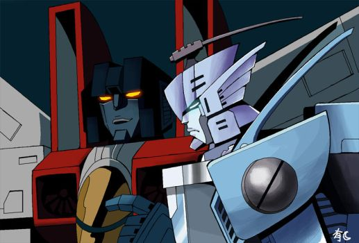 Blurr and Starscream Finished by Uwall