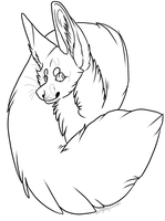 Free Fennec fox badge template. -MSPAINT FRIENDLY- by UngodlyIllusions