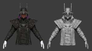 Batman Who Laughs - WIP by jubjubjedi