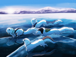 Race On The Frozen Sea by Caliki