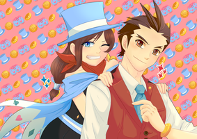 Collab: Wright and Justice Team by Phyllismi