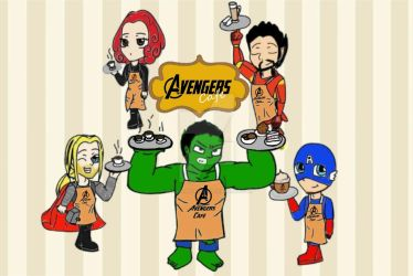 Coming soon: Avengers Cafe by UnicornPottery