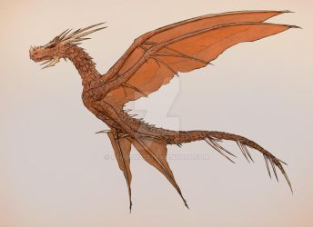 4 winged dragon by Random223