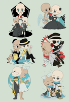 Vocaloid Pack( 6 chibi Bases) by TheMexicanAutomobile